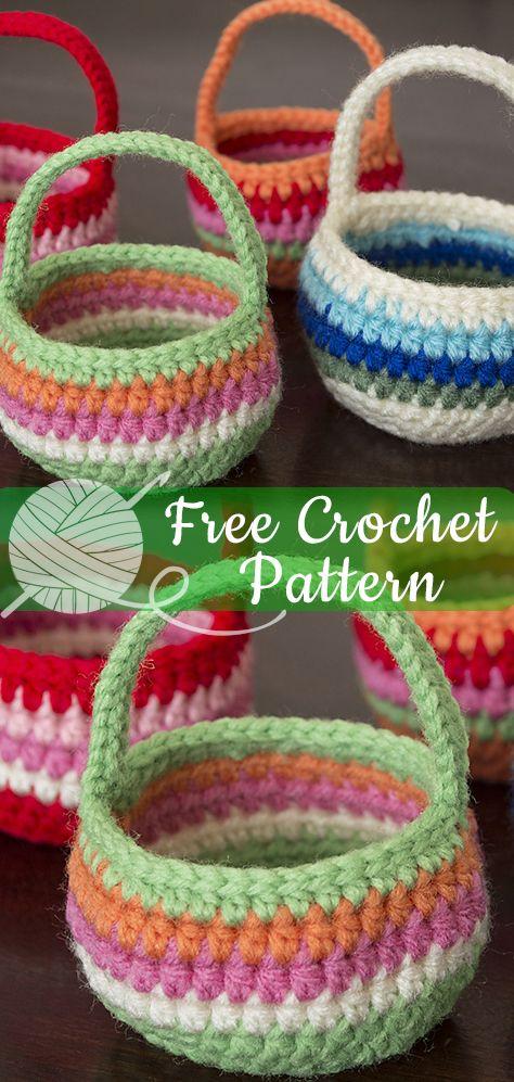 20 Free Crochet Basket Patterns - How to Crochet 20 Basket Tutorials | 997x474