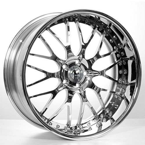 20x910 5 Staggered Ac Forged Wheels 313 Chrome 3 Piece Rims For