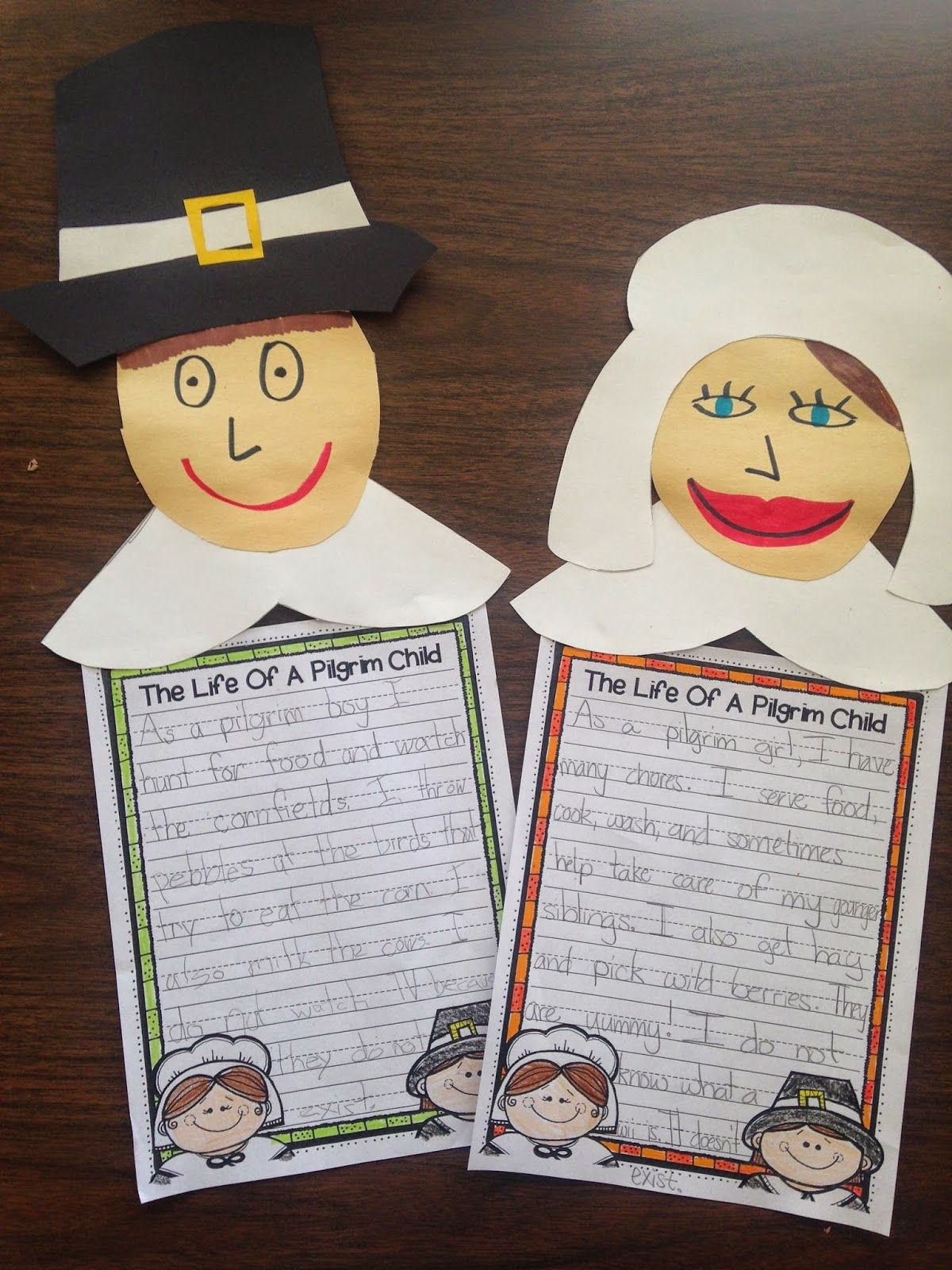 Pilgrim Activity Perfect For First Grade