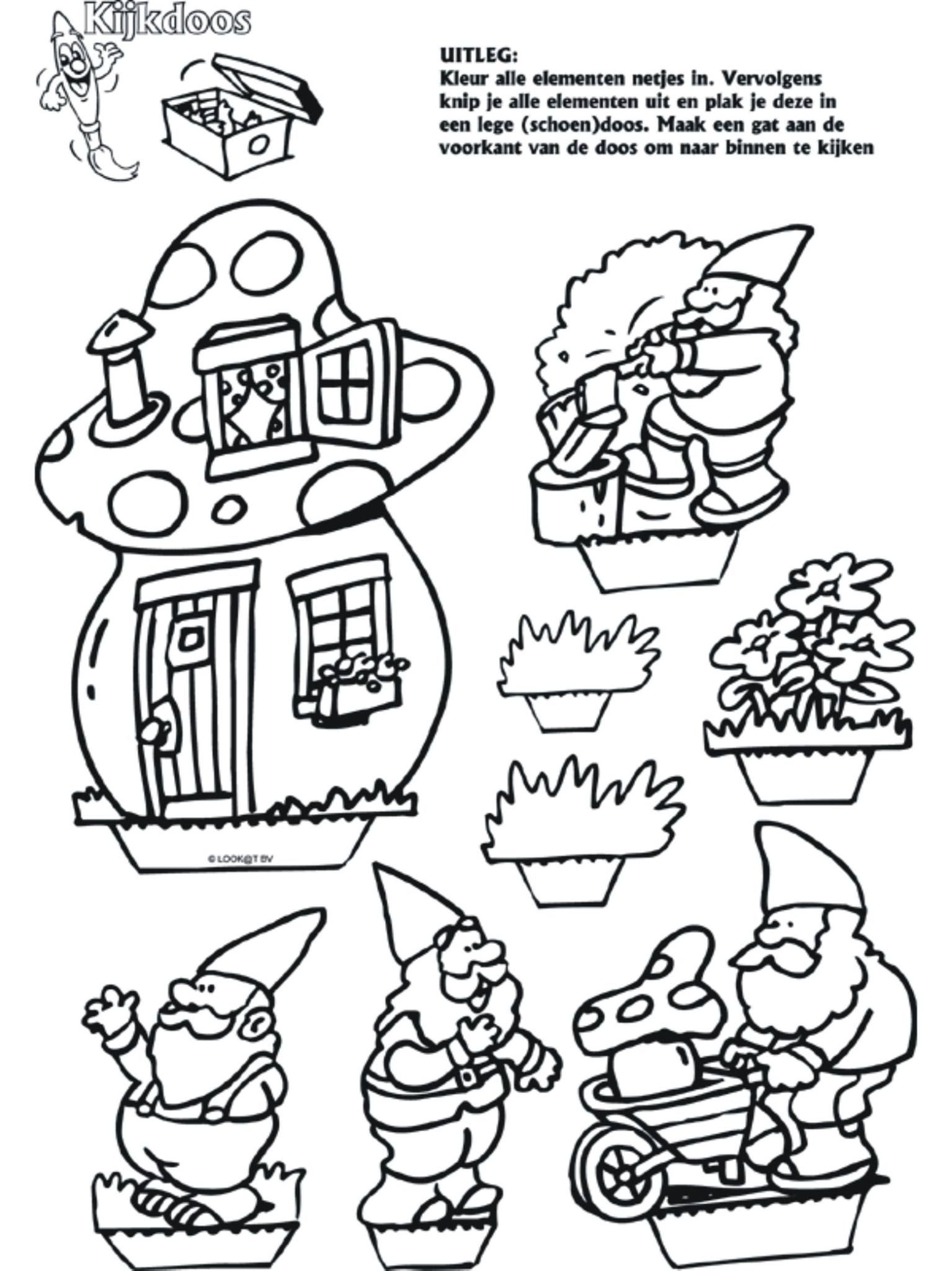 Coloring Drawings Gnomes