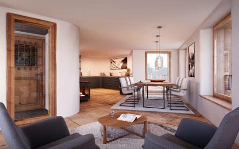 Casa Cochetta, Totalsanierung und Umbau Merhfamilienhaus von von - bilder für küche und esszimmer