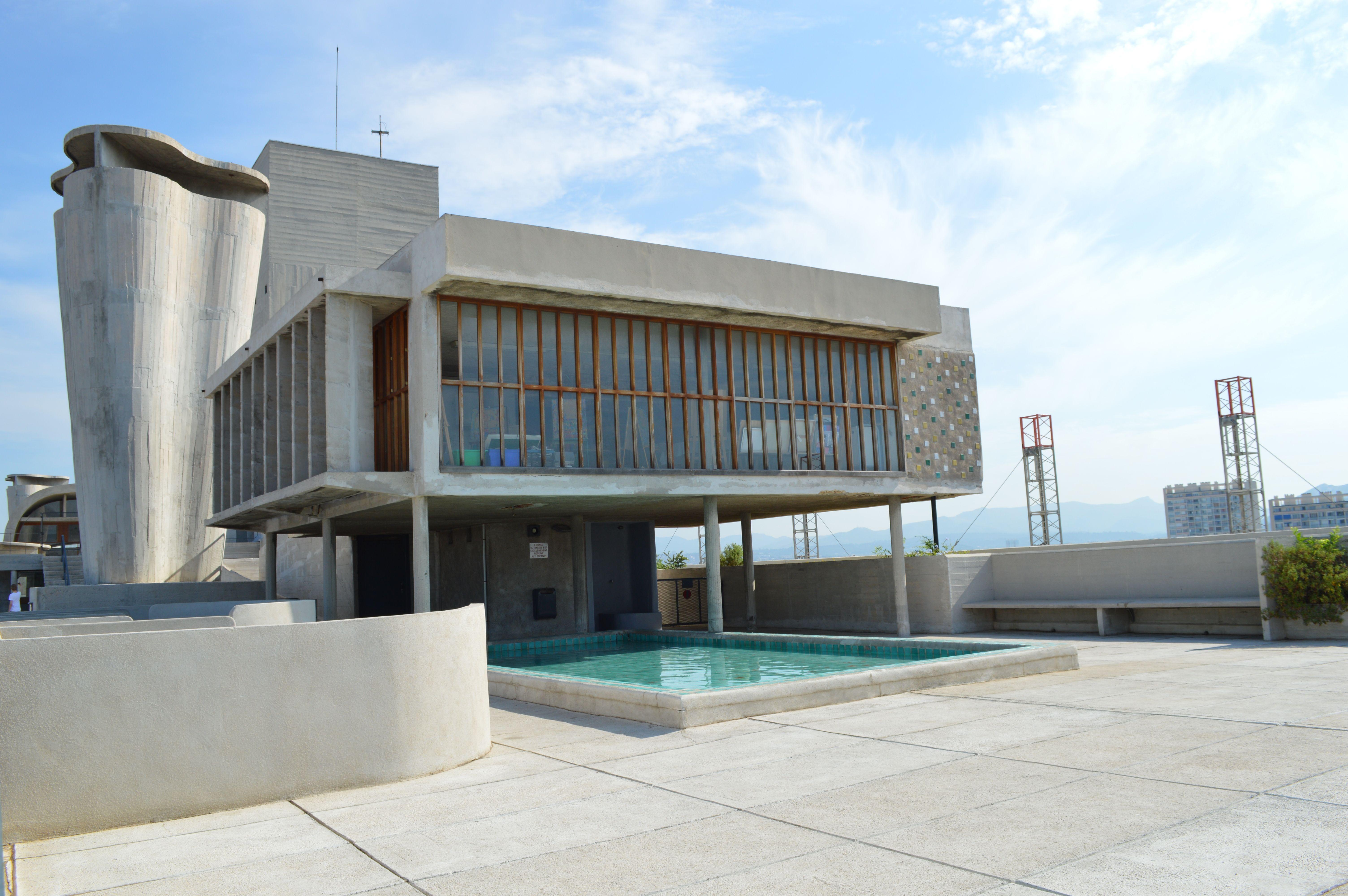 Le Corbusier Unite D Habitation roof terrace, unité d'habitation, marsielle, le corbusier