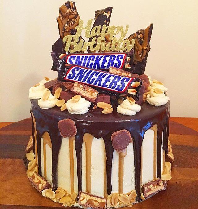 Swell Snickers Cake Chocolatelovers Snickers Dripcake Caramel Funny Birthday Cards Online Hetedamsfinfo