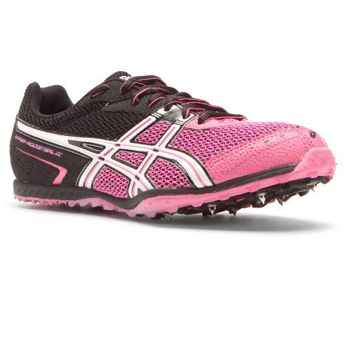 ASICS Women's Hyper-Rocketgirl XC Track and Field Shoe,Black/White/Hot