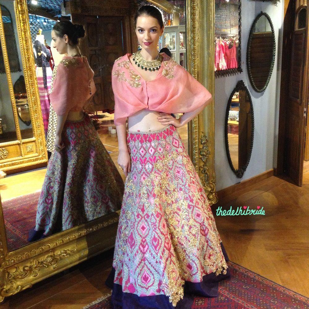 Unique blouse styles pink drape style blouse jadeus muk couture