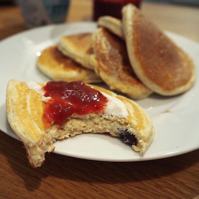 Rosinbolle-pannekaker til kvelds # fitnesscherry russin Raisin pannkaka pannkakor