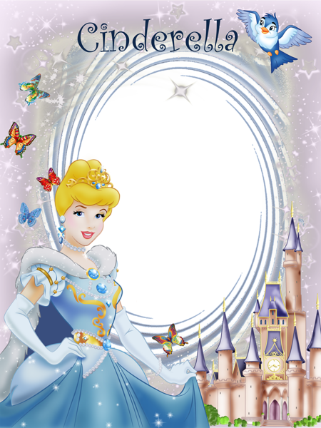 Transparent Frame Princess Cinderella | Cute Frames | Pinterest ...