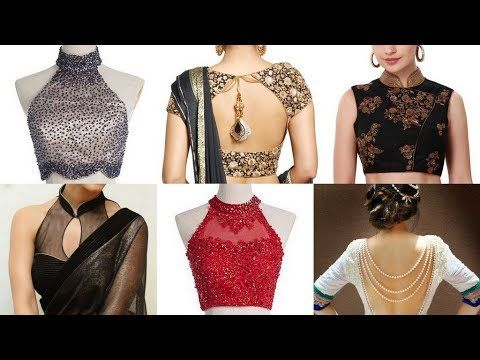 feb29e02e7b0f0 Blouse Designs New Model - Back Neck Designs Catalogue - YouTube ...
