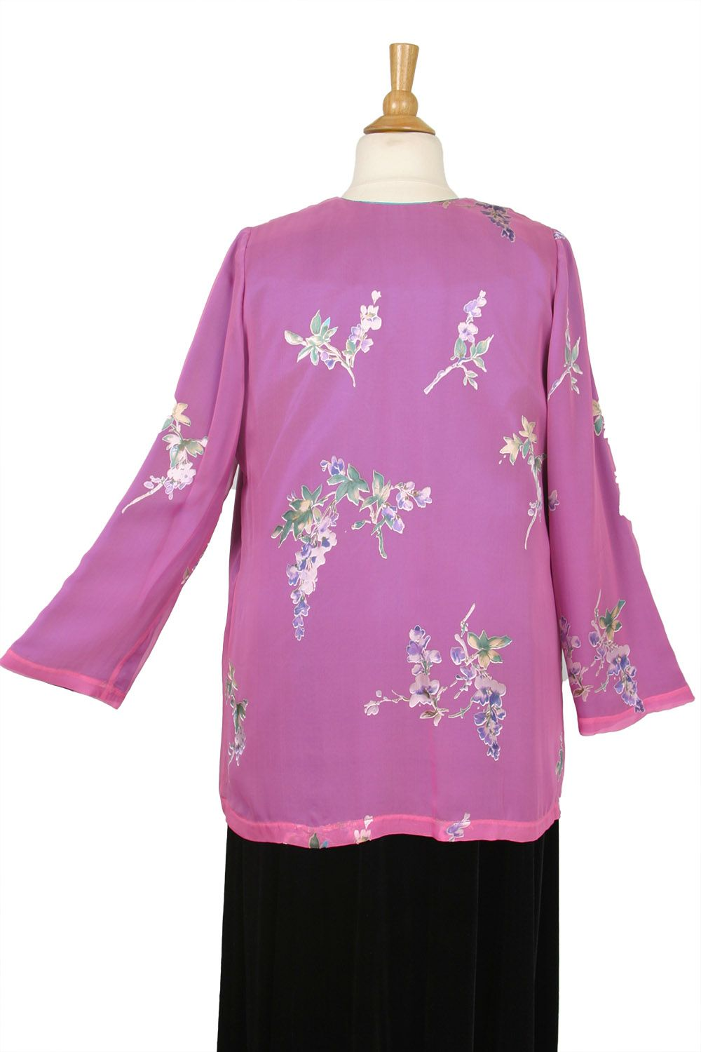 927553e073d Plus Size Mother of Bride Jacket Floral Silk Devore Pink SHOP NOW  Unique  jackets for women Sizes 14 - 36