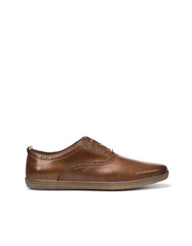 Zara barna bőr férfi cipő  2c5f97b614