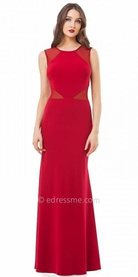 Illusion Cardinal Red Evening Dresses By Js Collections Dress Jscollections