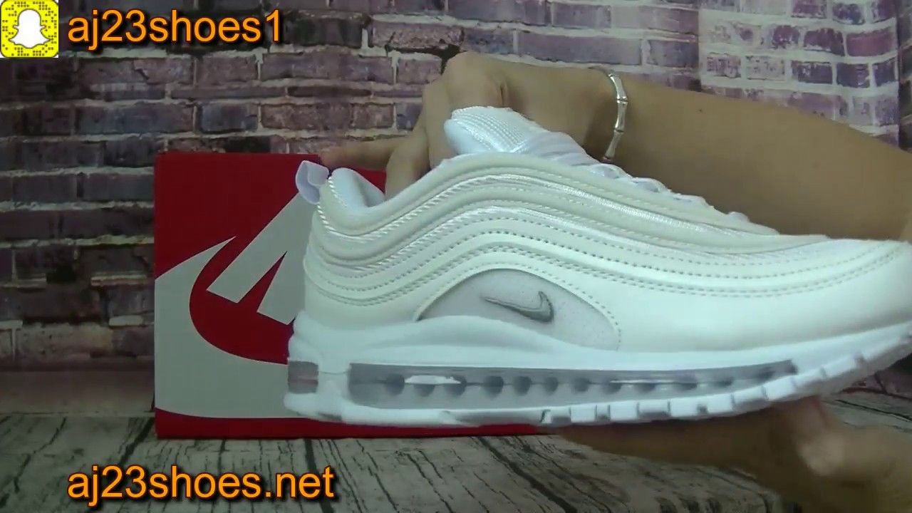 1b33f224aad4f7 Nike Air Max 97 White and light Umboxing Review ON FOOT