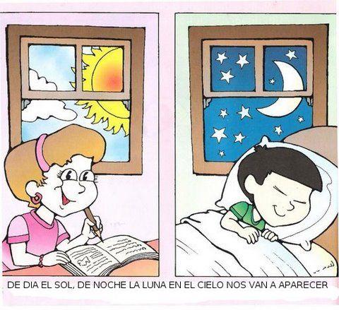 Trabajar El Dia Y La Noche En Maternal Pesquisa Do Google Drawing For Kids School Crafts Teacch