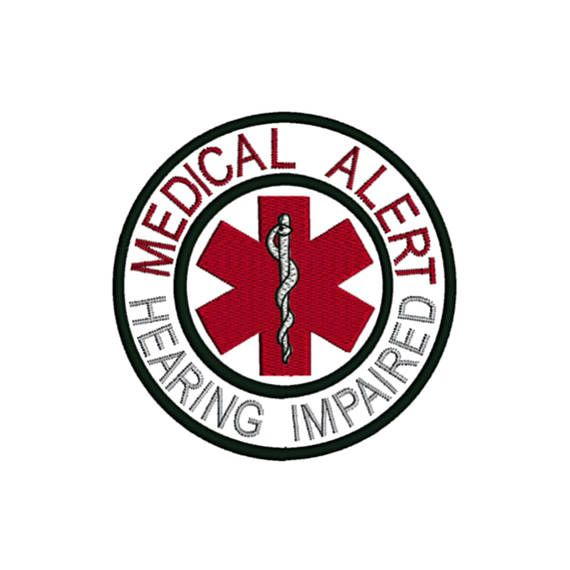 Hearing Impaired Medical Alert Symbol Awareness Condition Alerts