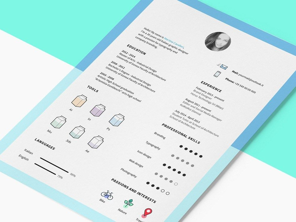 Free Clean Cv Template With Icon Set Creative Resume Template Free Indesign Resume Template Free Indesign Resume Template