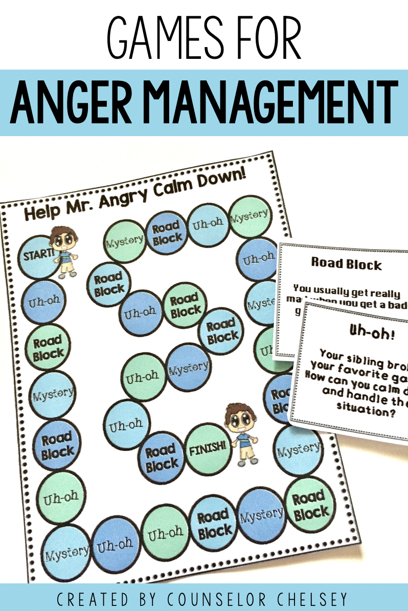 Anger Management Games To Teach Self Regulation In Counseling And Sel Lessons Anger Management Games Anger Management For Kids Coping Skills Activities