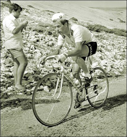 Tom Simpson au Mont Ventoux