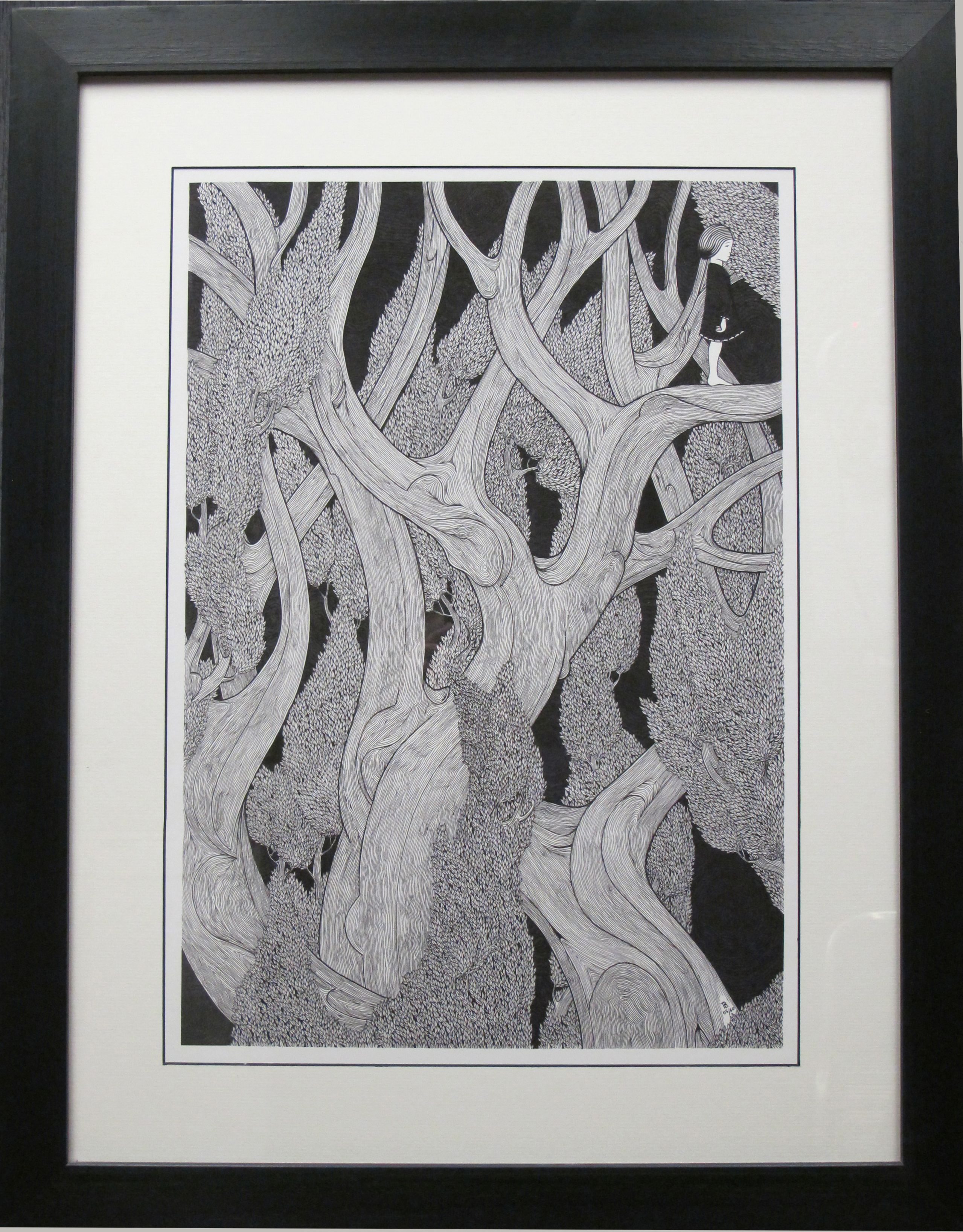 Beautiful ink drawing. Artist unknown. | framing ideas | Pinterest