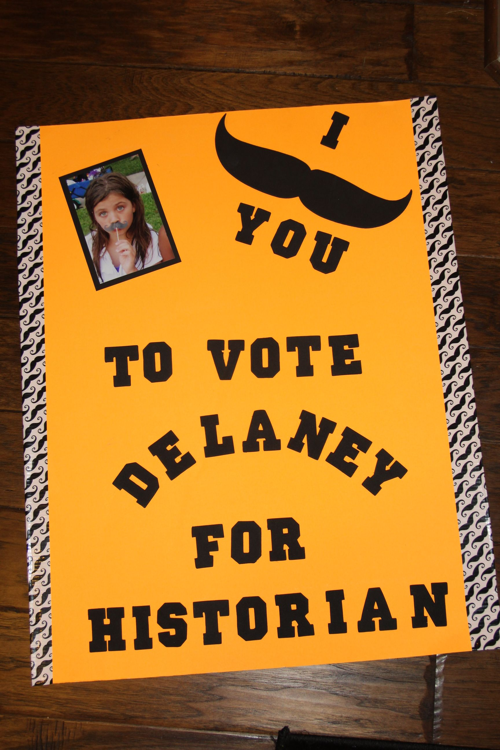 Student Council Poster. I mustache you to vote for ...