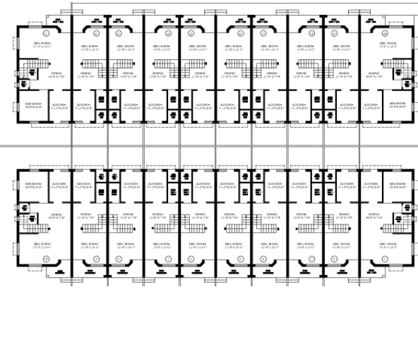 Row House Colony Layout Plan Drawing Download DWG File