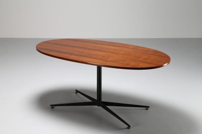 Tavolo Ovale ~ Ponti gio tavolo ovale in noce e metallo mod bt