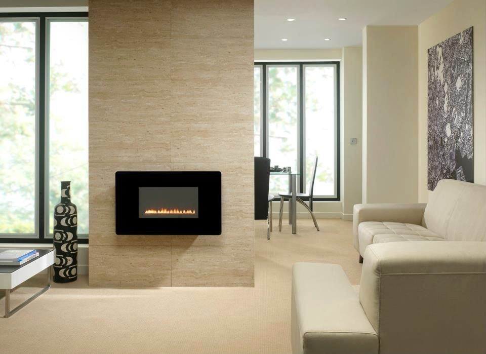 Fireplace Designs | ... Mounted Gas Fireplace   Magnificent Minimalist  Fireplaces Design Ideas
