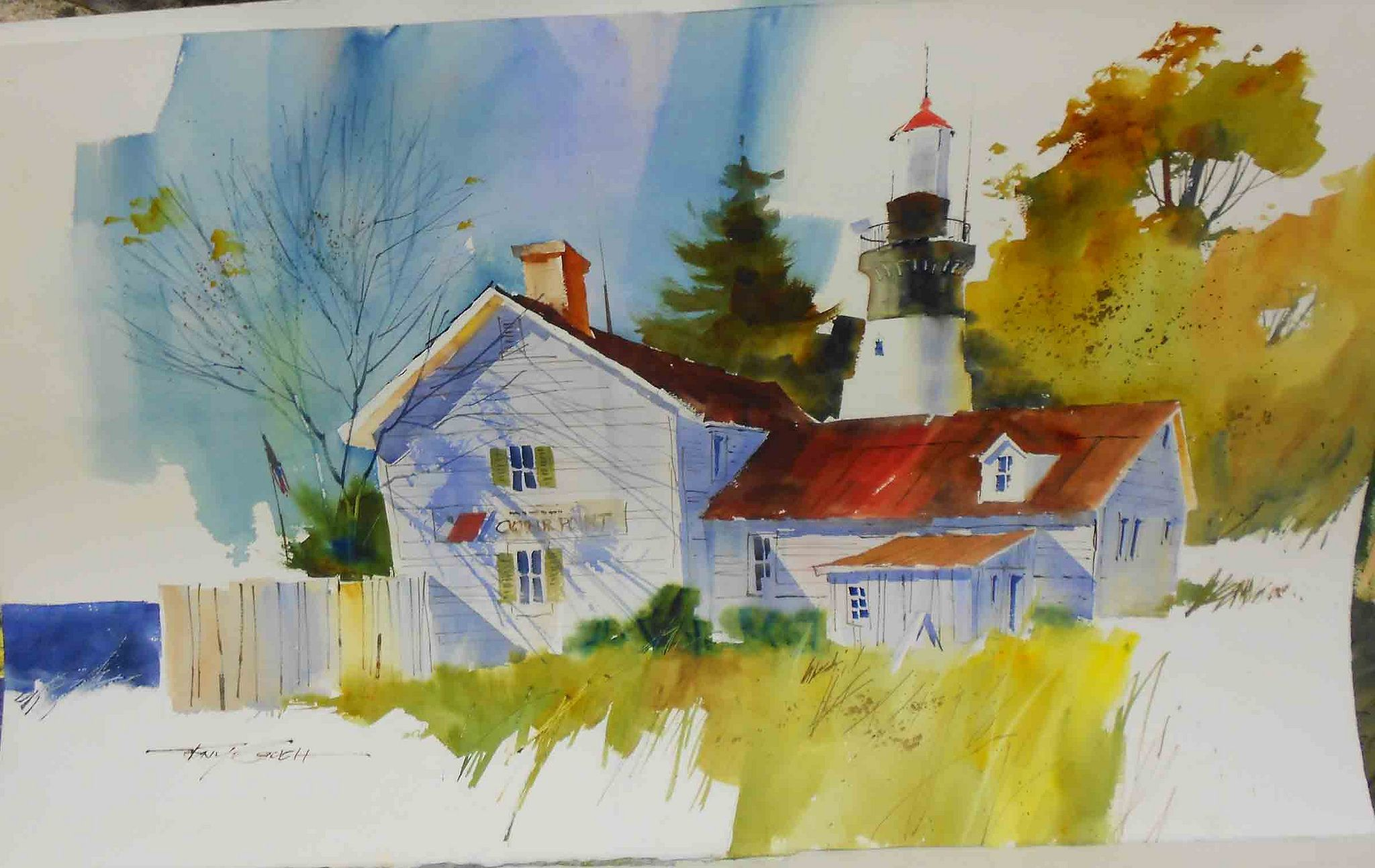 Tonycouch Lighthouse Watercolor Art Lessons Painting