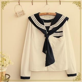f4cfdcb5973e7 Buy 'Fairyland – Long-Sleeve Sailor Collar Blouse' with Free ...