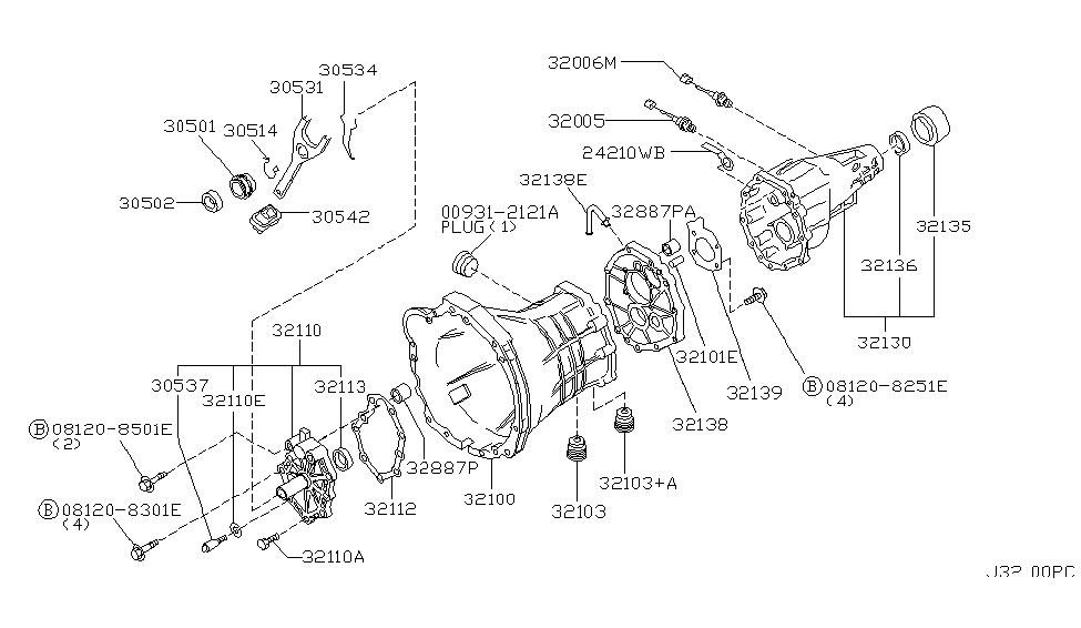1997 Nissan Pathfinder Part Diagram