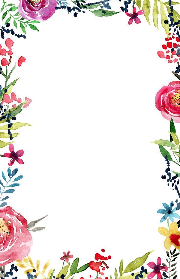 Aquarell Blume Banner frei bedruckbar