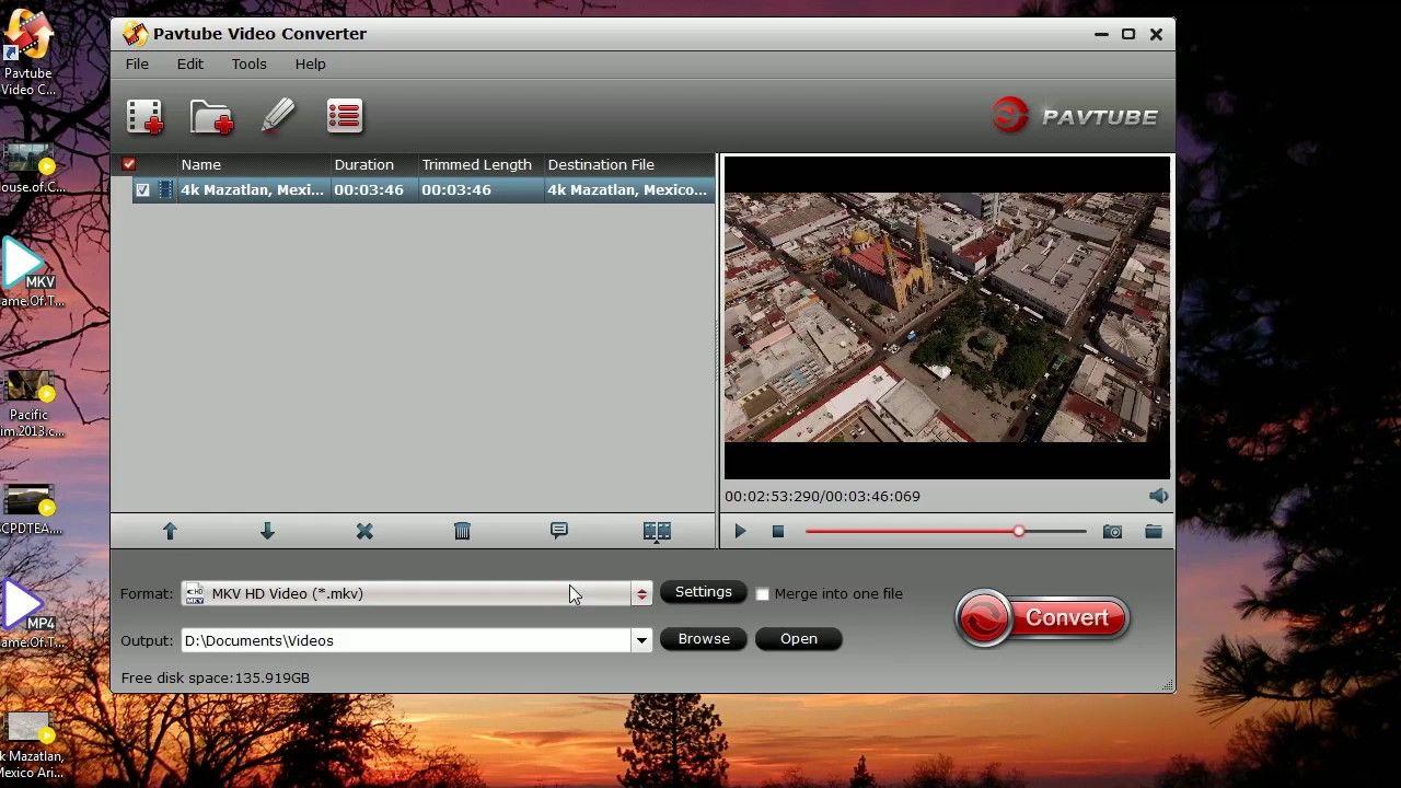 Convert gopro hero4 4k videos to mkv avi mov mpg mp4 swf