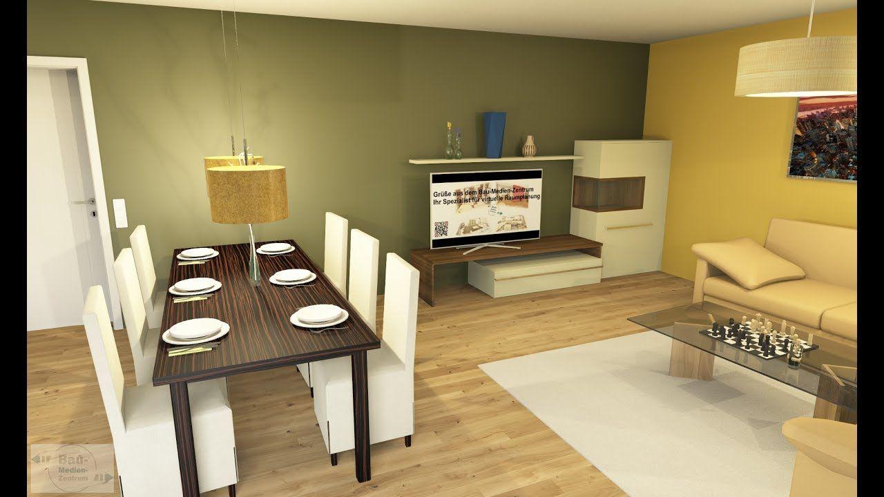 offene k che mit wohn esszimmer cad im zeitraffer bau medien zentru palettecad. Black Bedroom Furniture Sets. Home Design Ideas