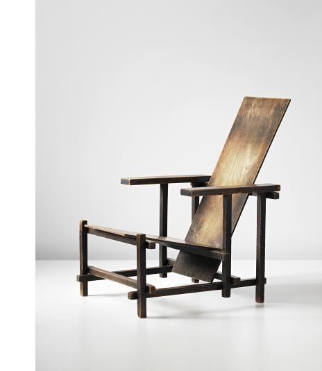 GERRIT THOMAS RIETVELD Important early armchair, circa 1926-1928