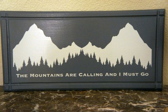 Ready to ship  The Mountains Are Calling and I by Frameyourstory, $45.00