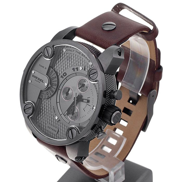493bc71d9 Diesel DZ7258 brown leather only the brave chronograph men watch. Men's  Diesel Baby Daddy Chronograph Watch DZ7258. High impact oversized Diesel  Little ...