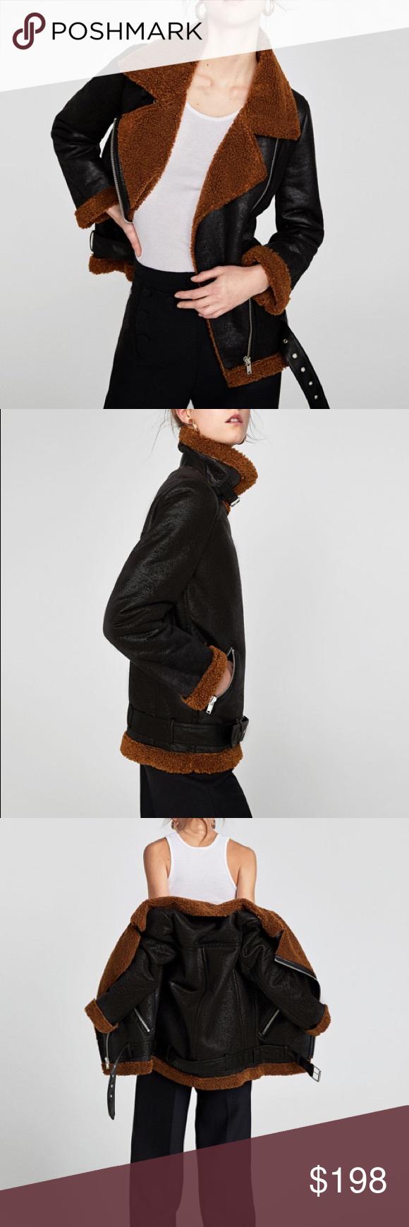 Zara Textured Biker Jacket Black Moto Jacket Zara black