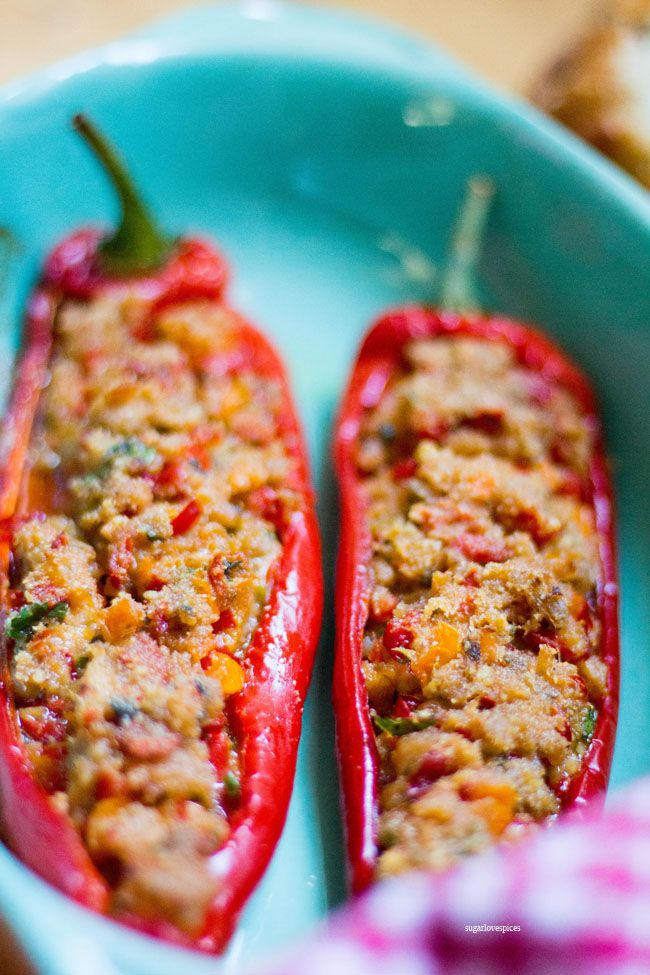 Tuna Stuffed Sweet Peppers Recipe Stuffed Peppers Stuffed Sweet Peppers Recipes