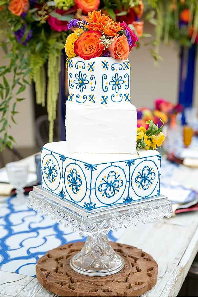 42 Exciting & Colourful Mexican Wedding Cake Ideas