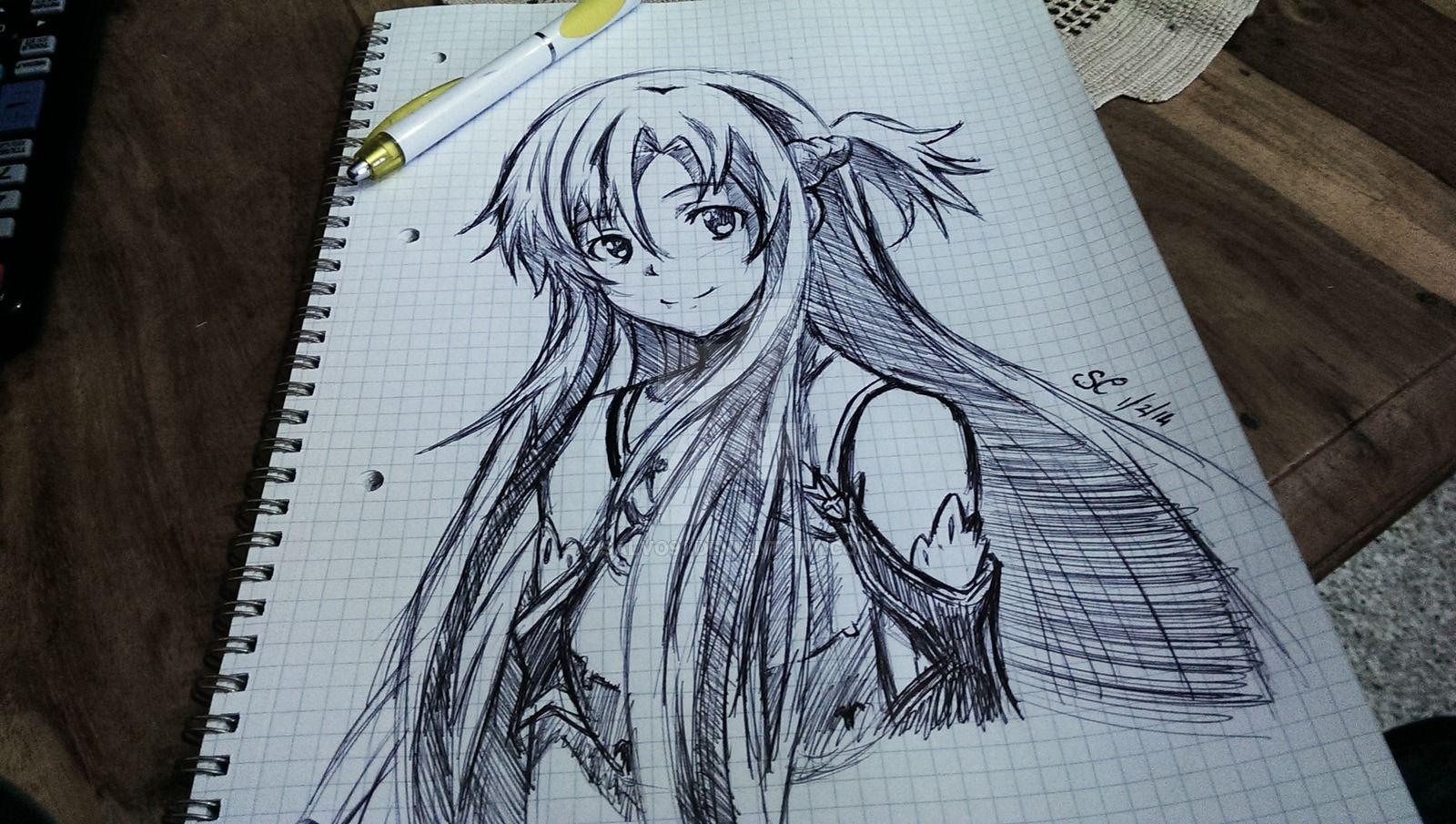 Resultado de imagen para asuna sao sketch draws pinterest