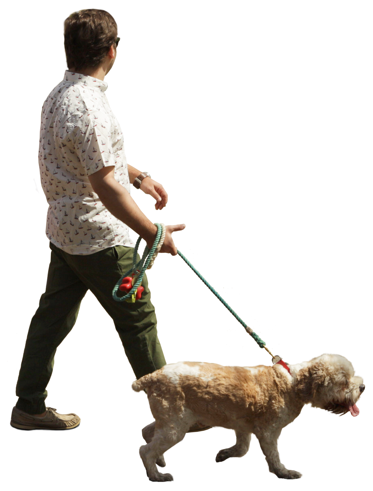Man Walking Dog : Man walking with dog cut out for architectural