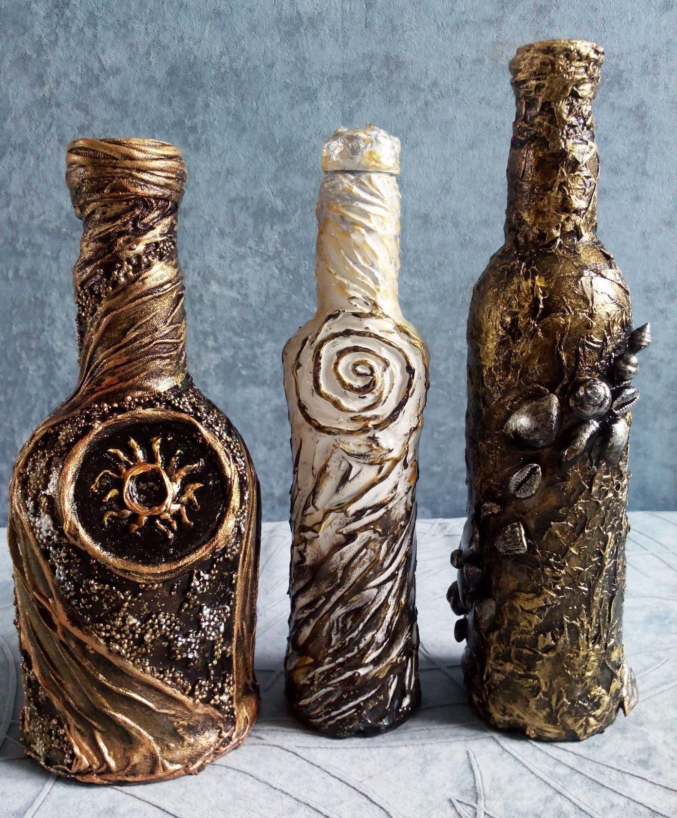 Картинки декор бутылок своими руками