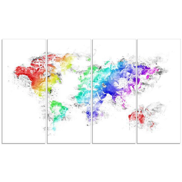 Design art bright world map canvas art print dream home design art bright world map canvas art print gumiabroncs Choice Image