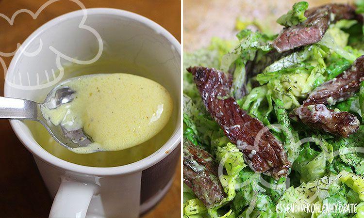 Low Carb Rezept für einen leckeren Fitness-Salat mit Rinderstreifen & Avocado. Wenig Kohlenhydrate und einfach zum Nachkochen. Super für Diät/zum Abnehmen.
