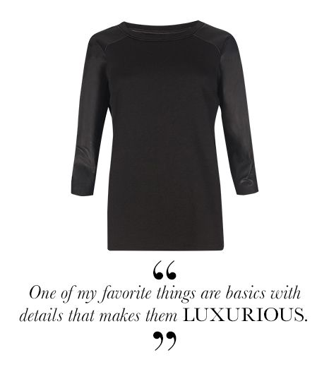 A sweatshirt with leather sleeves is Fabulous! AllSaints' Niro Top ($260)
