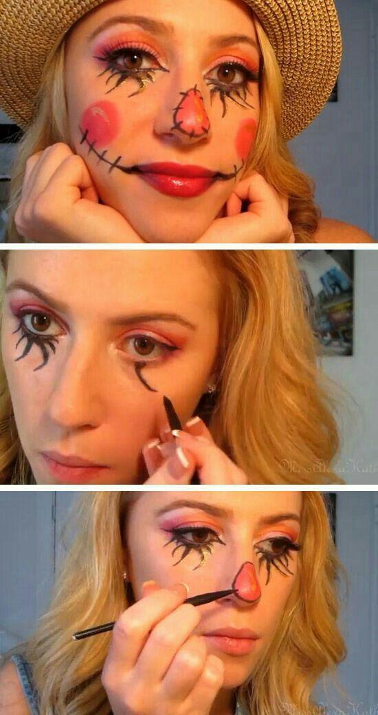 DIY Halloween Scarecrow Face Paint   Halloween Costumes ...