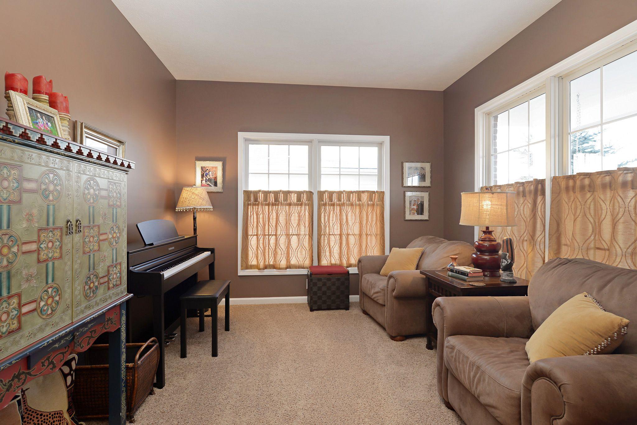 Brown Formal Living Room In Fishers Brown Livingroom Fishers