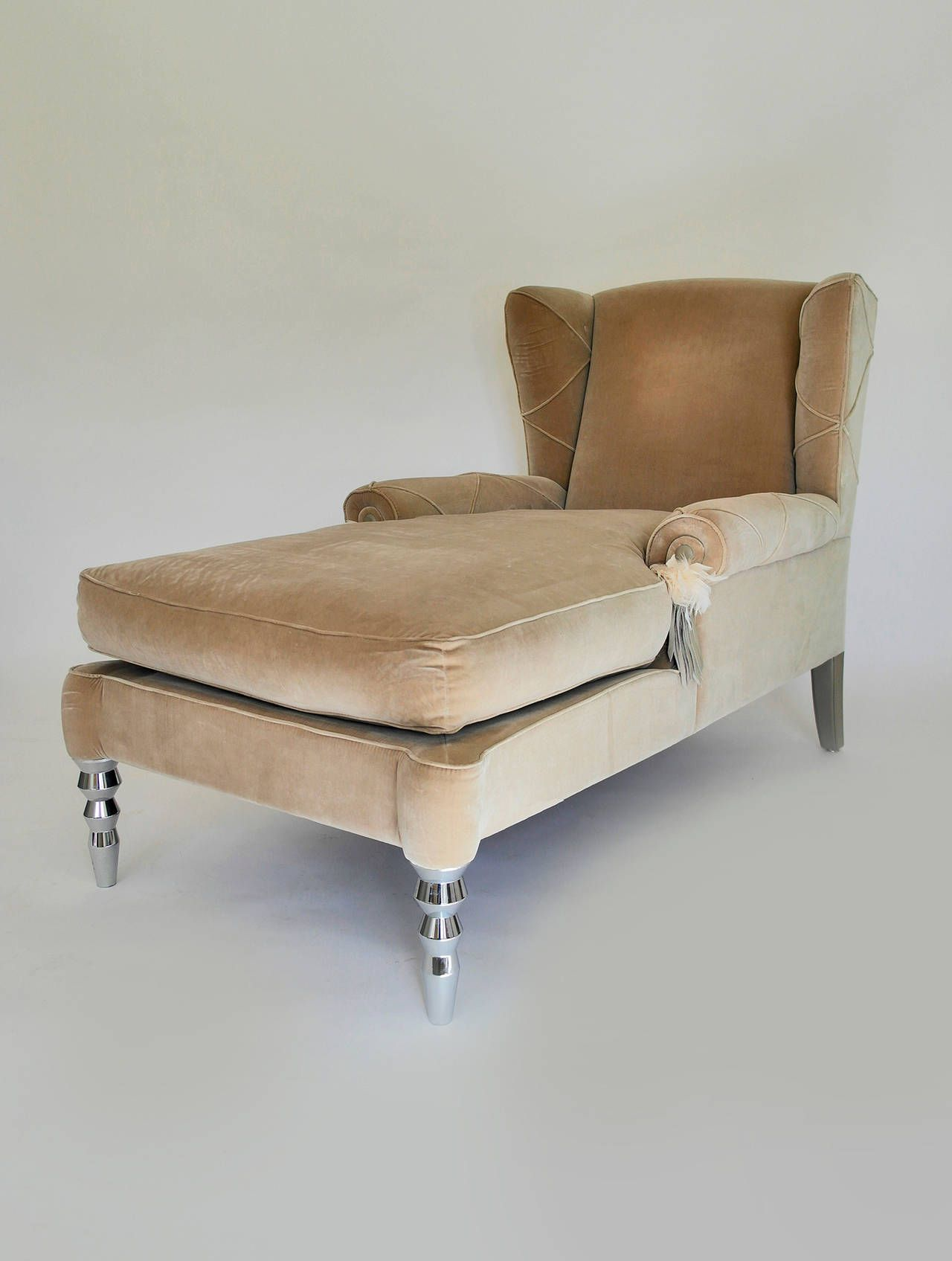 Pair of Roberto Cavalli Chaise Day Bed Wingback Chairs | Sillas ...