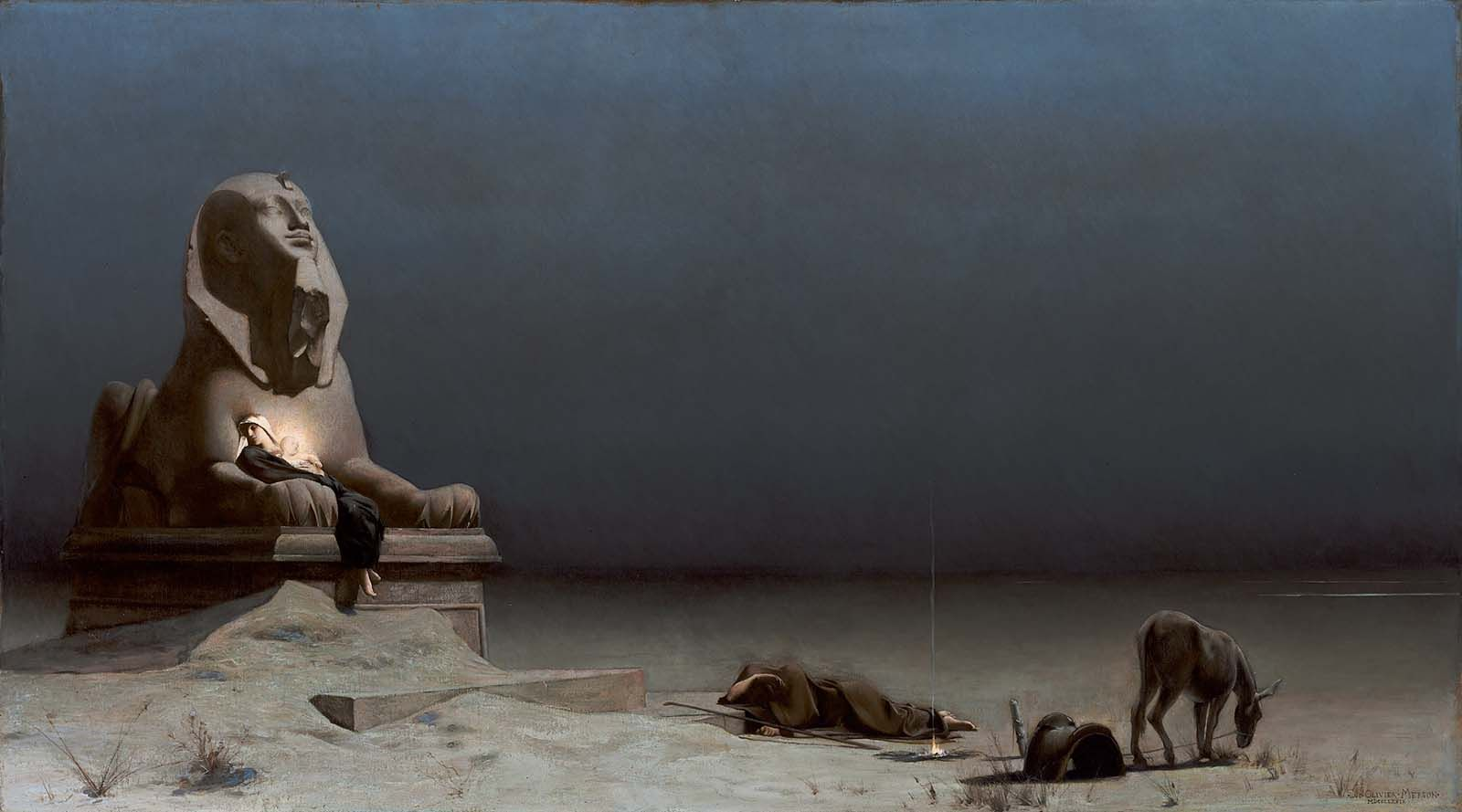 Rest On The Flight Into Egypt 1879 Luc Olivier Merson
