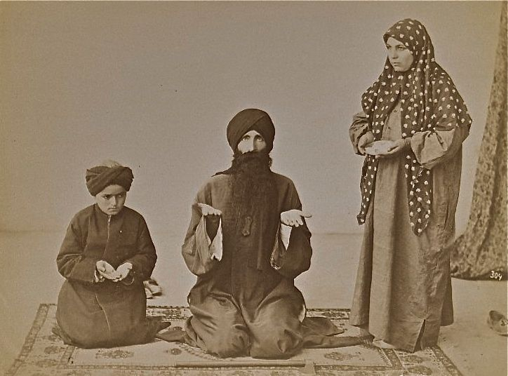 Portrait of a dervish and his family in Qajar, Iran   Art history, Sufism, Iran