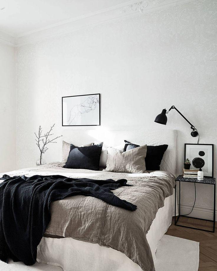 Great mixture of materials   Minimal bedroom, Home bedroom ...